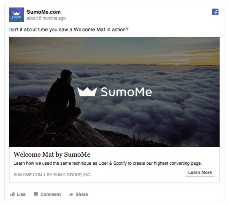 Facebook Ads Build Awareness Example