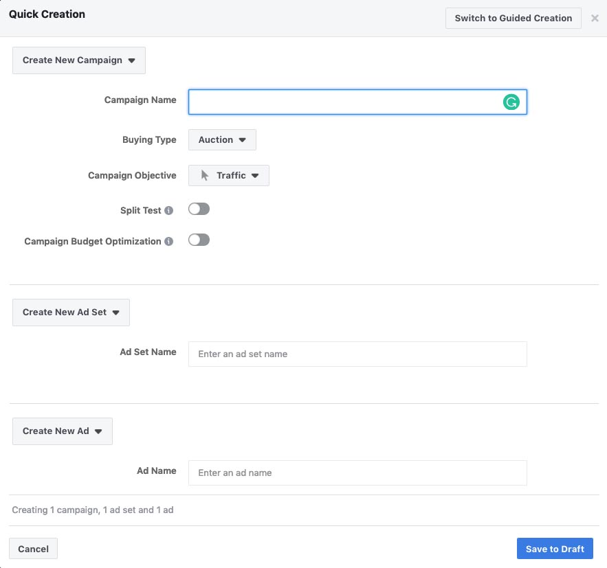 Facebook Ads Audience Settings
