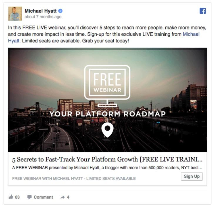 Facebook Ads Increase Traffic Example