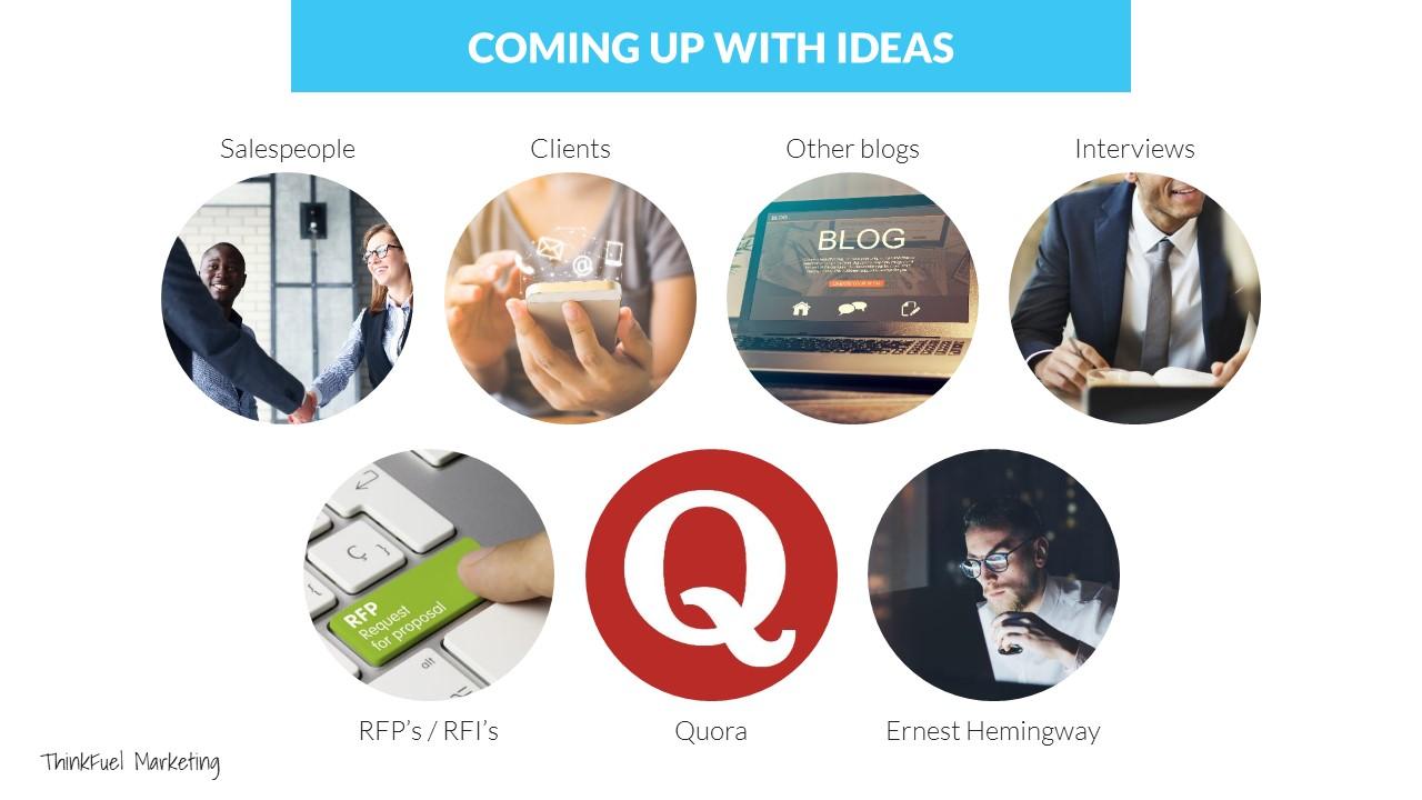 Content ideas 2