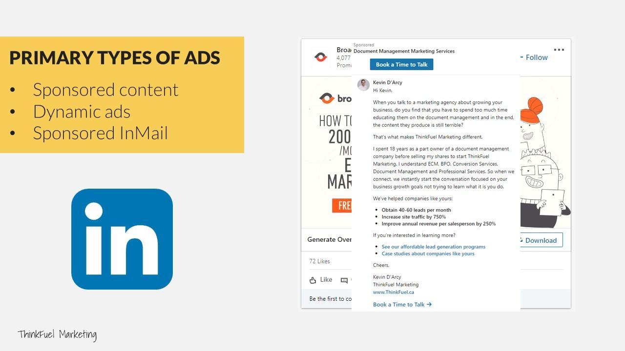 B2B Pay Per Click Marketing LinkedIn Examples