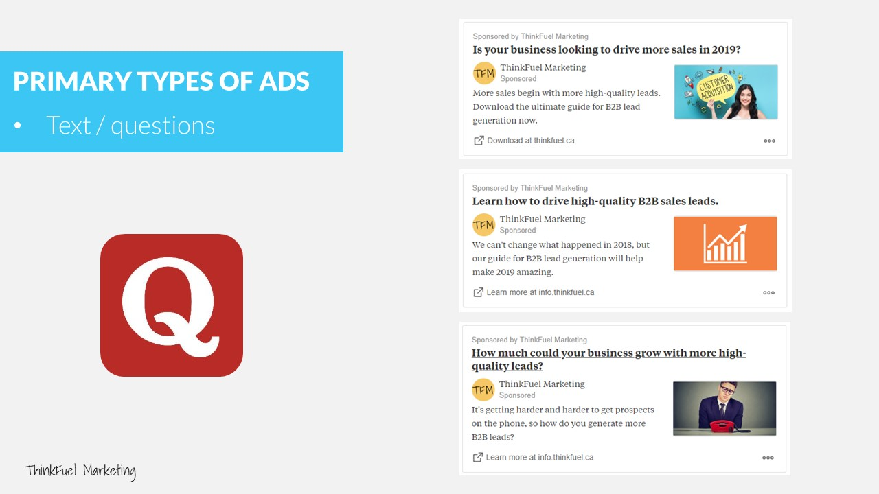 B2B Pay Per Click Marketing Quora Ads